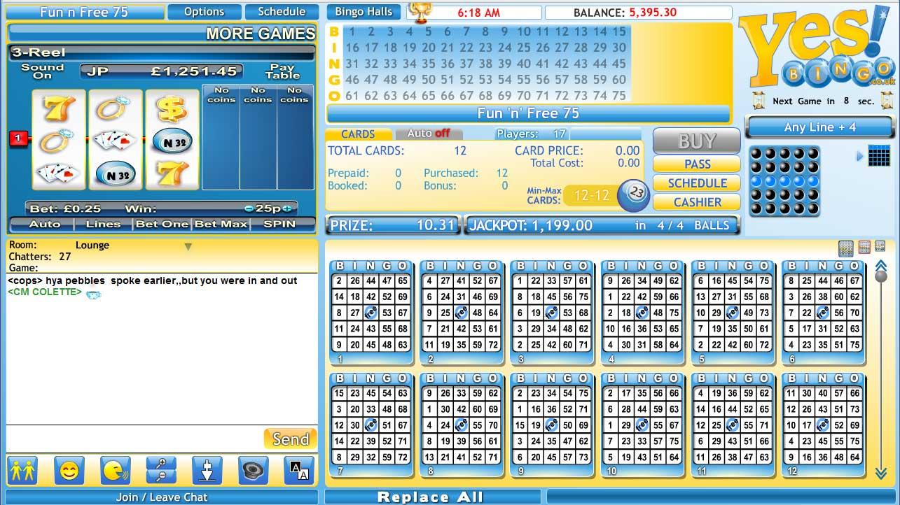 Yes Bingo Lobby