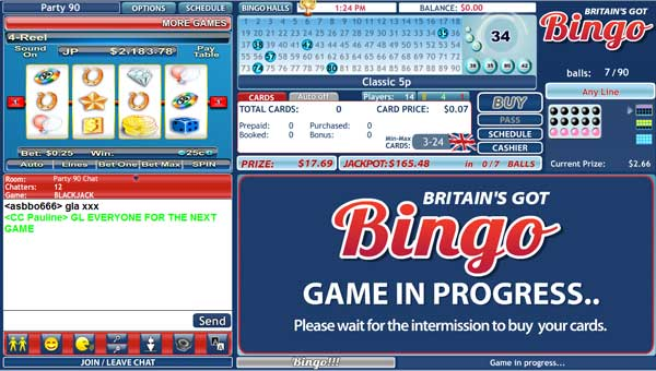 Britains Got Bingo Lobby