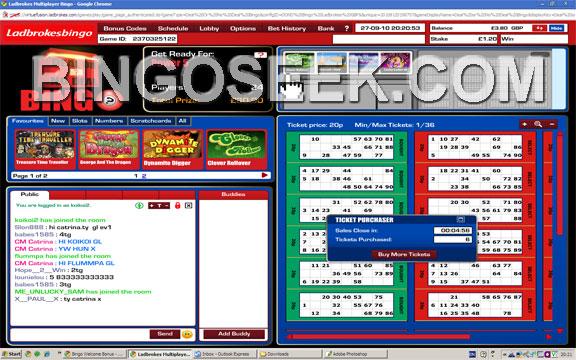 Ladbrokes Bingo Lobby