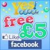 Free £5 when you join Yes Bingo Facebook