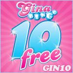 Use the Magic Word for £10 Free at Gina Bingo
